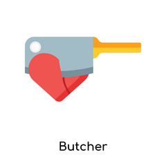 Butcher icon vector sign and symbol isolated on white background, Butcher logo concept