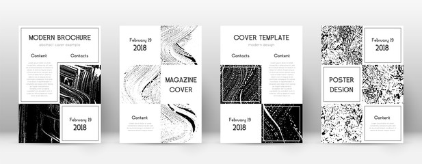 Cover page design template. Business brochure layout. Beautiful trendy abstract cover page. Black an