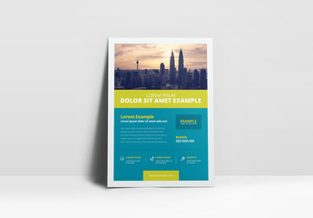 Business Flyer Layout with Lime Green Accents