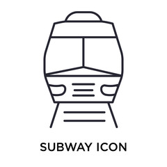 Subway icon vector sign and symbol isolated on white background, Subway logo concept