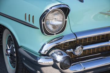 Dornbirn, Austria, 12 June 2012: Front detail of a Chevrolet vintage car