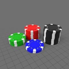 Stack of casino tokens