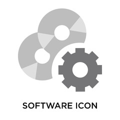 Software icon vector sign and symbol isolated on white background, Software logo concept