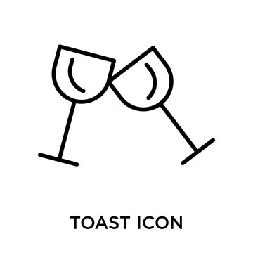Toast icon vector sign and symbol isolated on white background, Toast logo concept