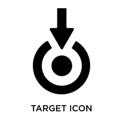 Target icon vector sign and symbol isolated on white background, Target logo concept