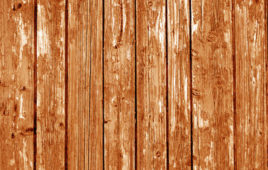 Wooden fence pattern in orange tone.
