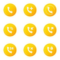 Phone icons set