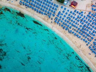 Makronissos beach from the sky