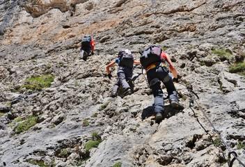 Am Pisciadu-Klettersteig, Sellagruppe, Dolomiten