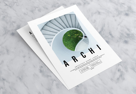 Event Flyer Layout with Large Photo Placeholders
