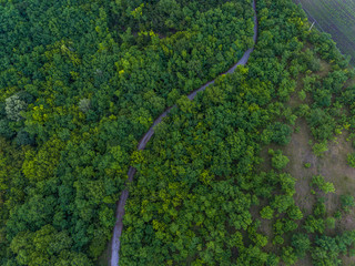 Country road aerial view for drone