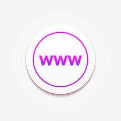 WWW Icon text button