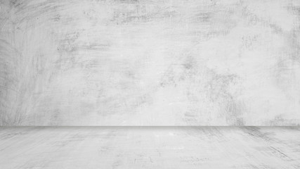 grey paint texture on background with wall and floor for interior decorate