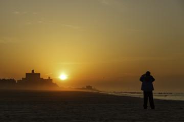 Beautiful sunrise at the beach