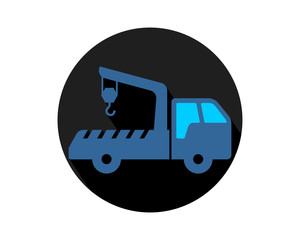 crane truck transport transportation vehicle conveyance image vector icon logo