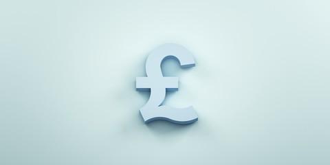 Pound monetary symbol background. 3D Render Illustration