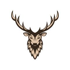 deer head vector design