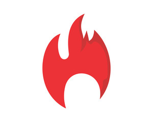 burning fire flame flare bonfire heat image vector icon logo symbol