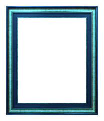 Antique blue frame isolated on the white background