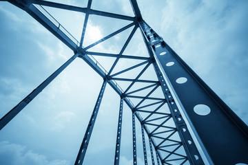 In de dag Brug steel structure bridge closeup