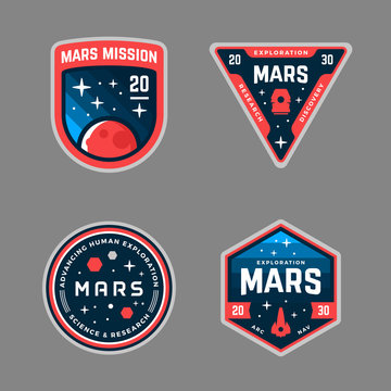 Mars mission patches