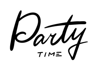 Party time hand drawn vector lettering.