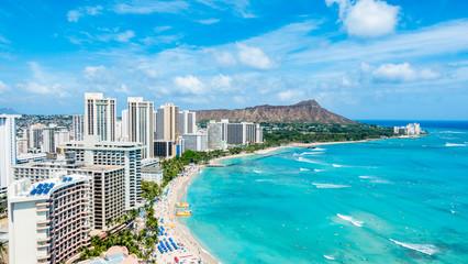 ハワイ ホノルル ワイキキビーチ ダイヤモンドヘッド