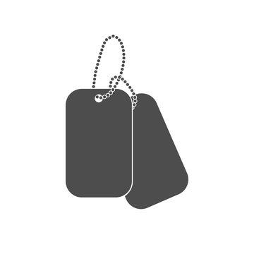 Dogtag personal id sign illustration. Dog tag identification mark.