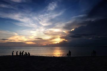 Holiday at Jimbaran beach, Bali, Indonesia.