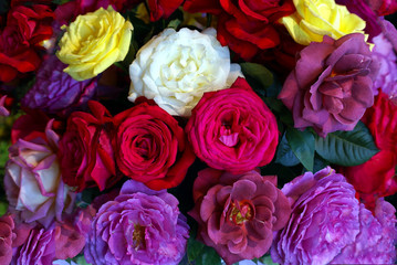 rose, flower, bouquet, pink, roses, flowers, red, floral, nature, love, isolated, bunch, white, wedding, petal, blossom, beautiful, yellow, beauty, gift, romance, valentine, color, green, bloom