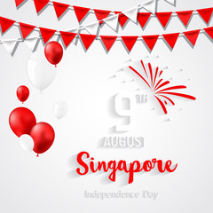 Singapore Independence Day. National day of Singapore.