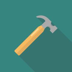 Hammer flat design