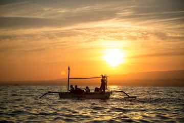 Dolphin watching. Lovina Beach, Singaraja, Bali, Indonesia. 17 september 2014