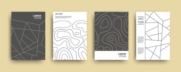 Modern abstract topography geometric covers set Wall mural