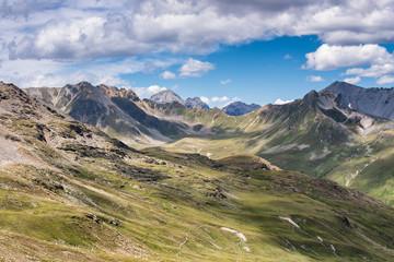 Beautiful alpine landscape at Stelvio pass, Italy.