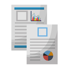 documents files with statistics graphics