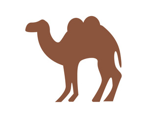 camel silhouette fauna animal safari image vector icon logo
