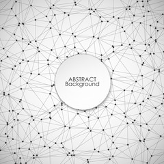 Molecule structure, Molecule background, vector illustration