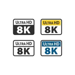 Ultra HD 8K icons