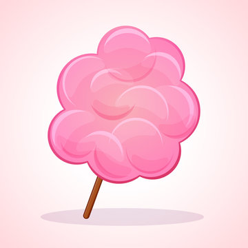 Vector pink candy floss icon