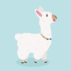 alpaca animal Vector illustration