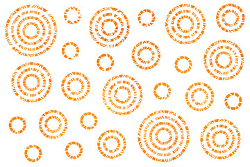 Watercolor abstract circles pattern.