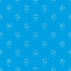 Map pointer with businessman pattern vector seamless blue repeat for any use