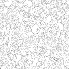 Carnation Flower Outline Seamless Background
