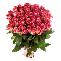 red roses bouquet isolated