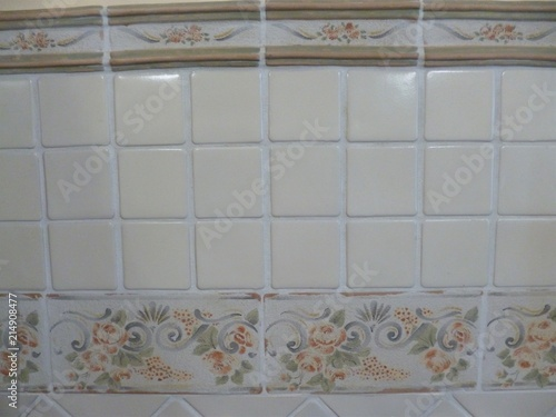 Bathroom In Retro Style Tiles Handmade Details Of Design And Interior Traditional