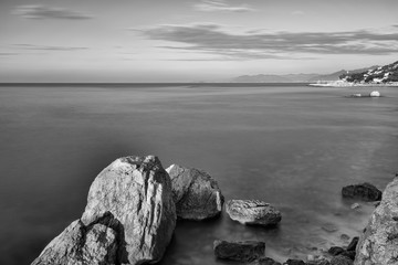 Panorama sul mare Ligure (lunga esposizione)