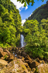 Trafalgar Falls, Dominica, Caribbean