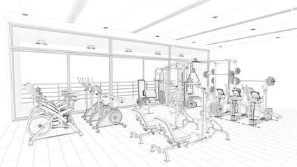CAD Modell von Fitnesscenter