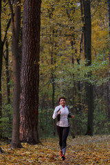 Full-length image of woman on morning run